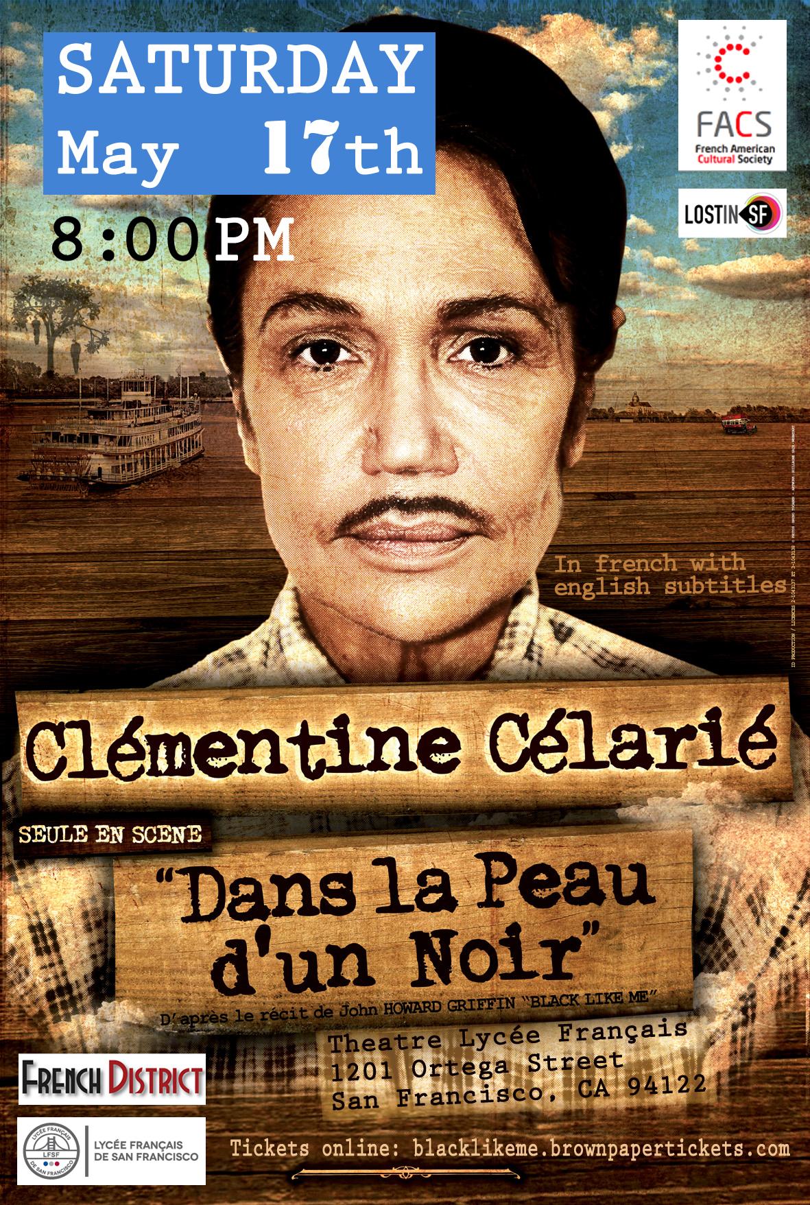 """Clémentine Célarié """"Dans la peau d'un Noir"""""""