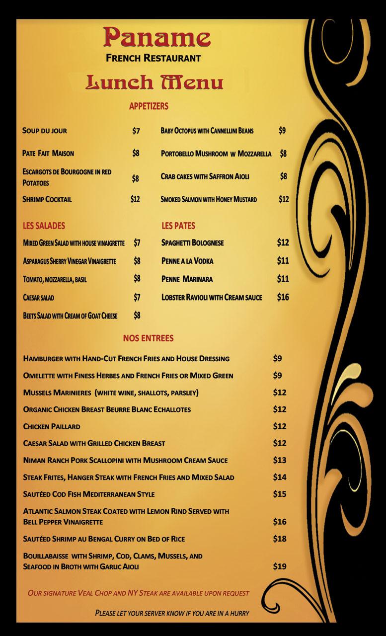 paname-lunch-menu