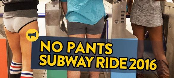 Le No pants Subway Ride